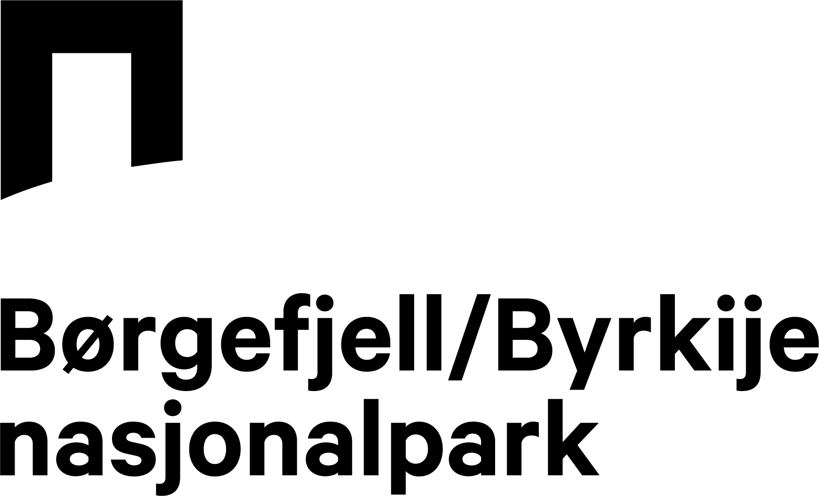 Logo Velkommen til ville, vakre Børgefjell/Byrkije nasjonalpark